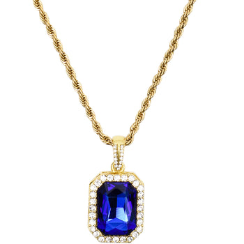 Crystal Rope Chain - Blue