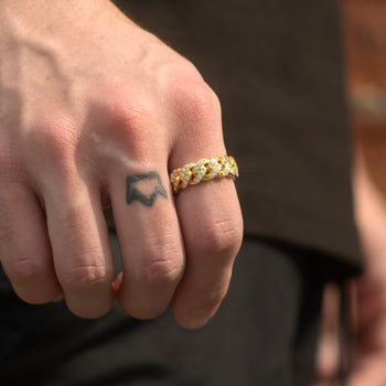 Cuban Link Ring - Gold