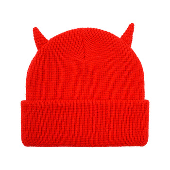 Horns Beanie - Red