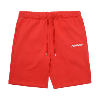 Cotton Sweat Shorts - Red