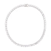Round Cut Tennis Chain - Silver