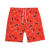 Paisley Swim Shorts - Red