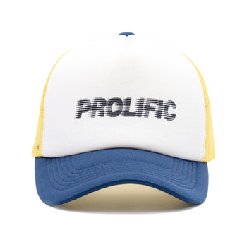 Motion Logo Trucker Hat - White/Navy/Yellow