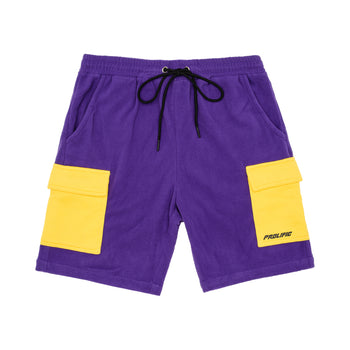 Polar Fleece Cargo Shorts - Purple