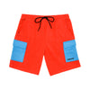 Polar Fleece Cargo Shorts - Red