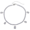 Crystals Tennis Chain - Silver