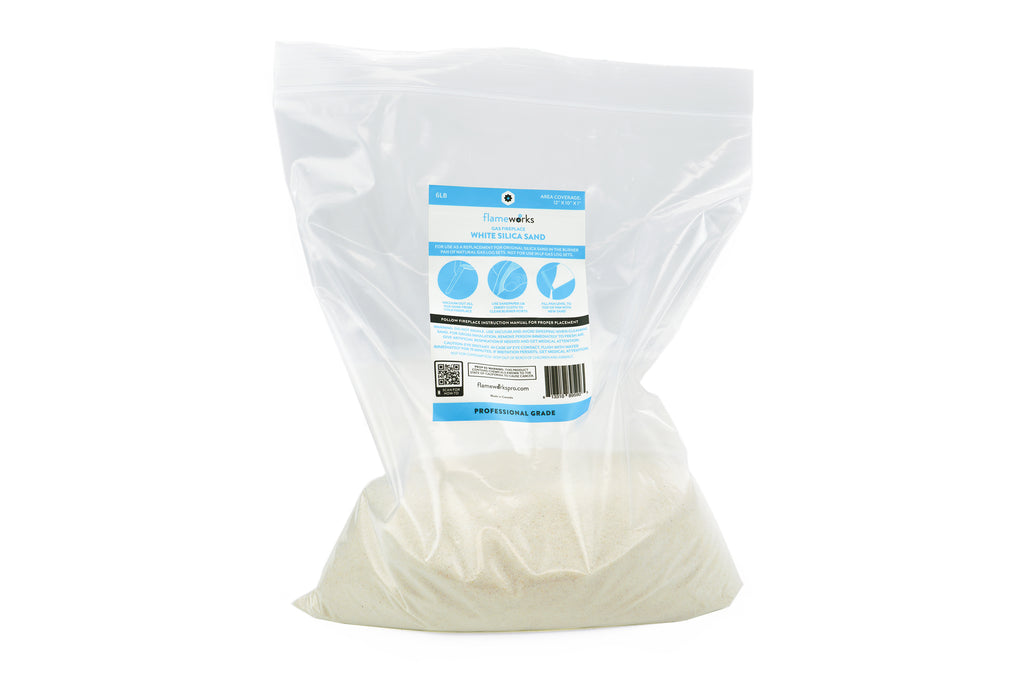 6 lb Bag of White Silica Sand