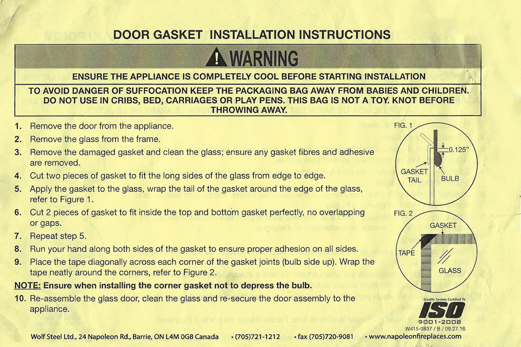 Replacement Door Gasket 8 feet