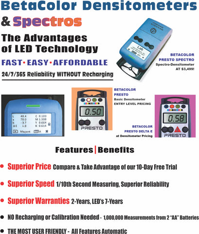 BetaColor Densitometers - LED Technology, Superior Performance, Super Affordable