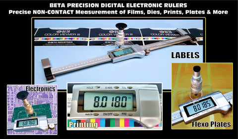 BETA VIDEO & ELECTRONIC RULERS NON-CONTACT MEASUREMENT FOR LARGE AND SMALL DISTANCES