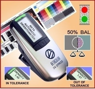 BETACOLOR S4 XPRESS AUTOMATIC LED DENSITOMETER WITH AUTO GRAY BALANCE