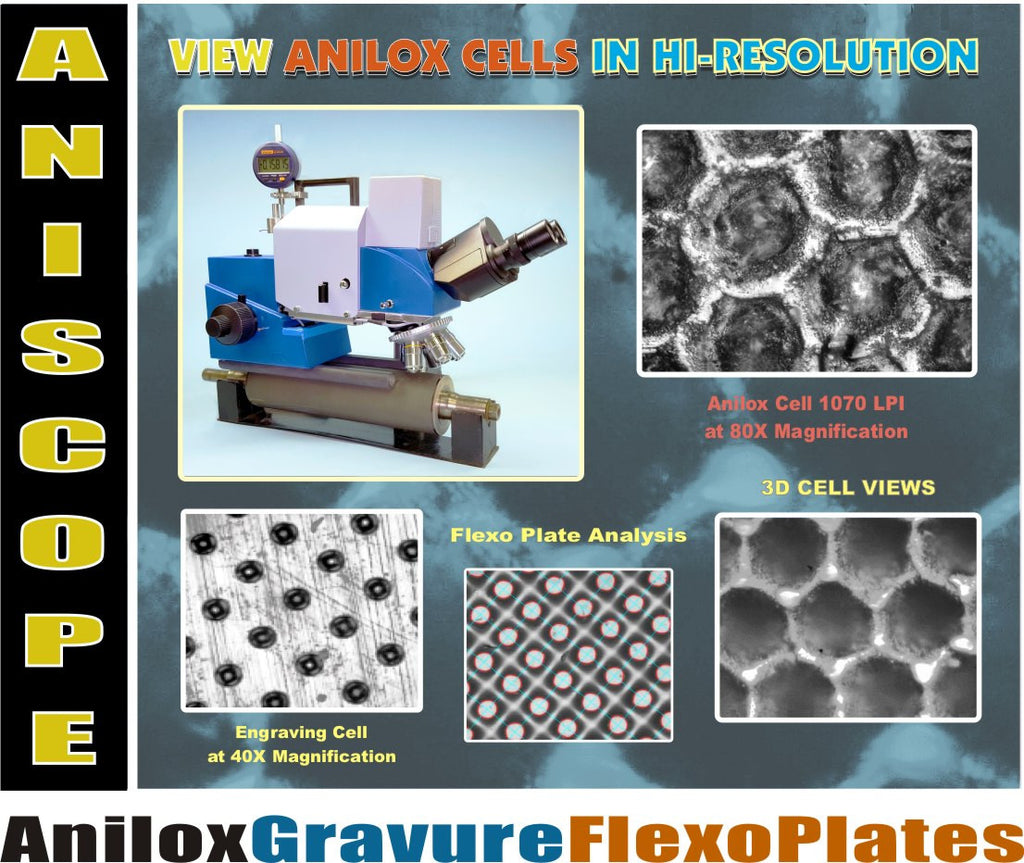 Beta Aniscope - Anilox, Gravure, and Flexographic Plate Analysis
