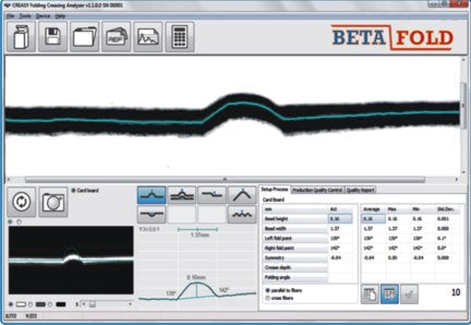 BETAFOLD CREASE & FOLD ANALYZERS