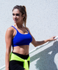 Strong Girl Adjustable Sports Bra - Deep Azul
