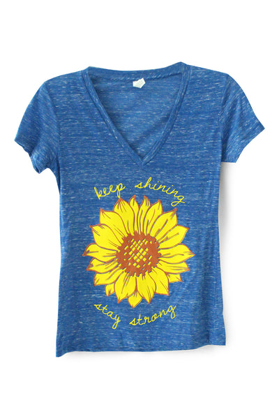 Limited Edition Keep Shining. Stay Strong. V-Neck Tee