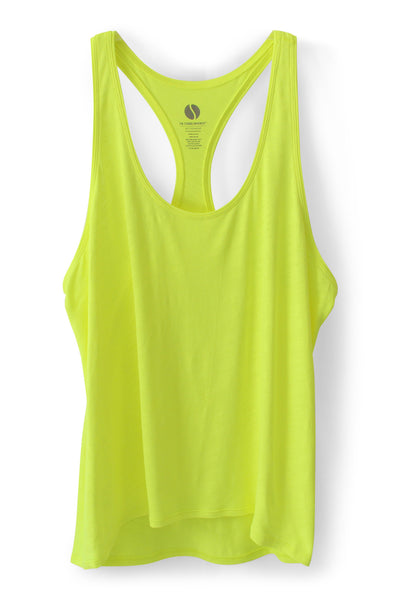 Go-Getter Slim Racerback Tank - Neon Yellow