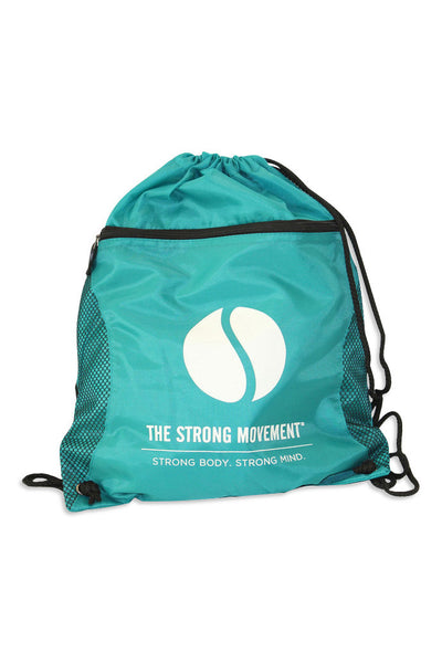 Sporty Drawstring Gym Bag - Teal