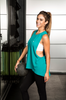 Fit Squad Mesh Muscle Tank - Caribbean Teal