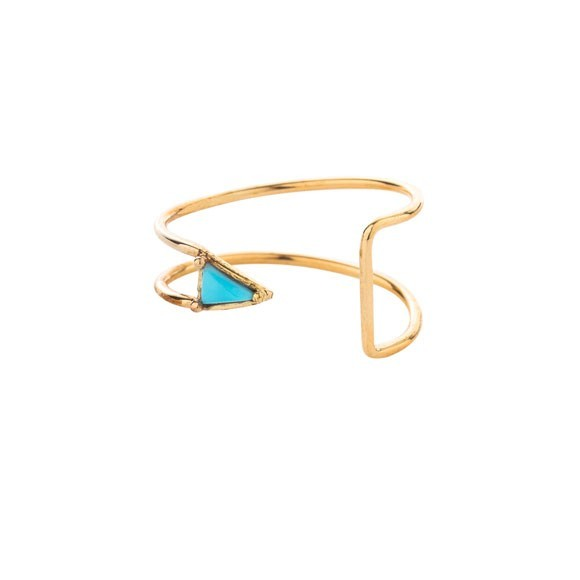 Curved Triangle Ring