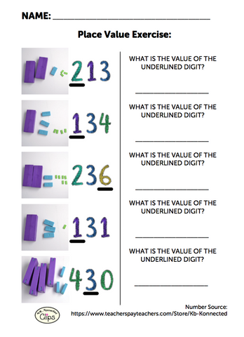 Free 2nd Grade Worksheet: Understanding Place Value of 3-digit Numbers