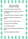 Freebie Formative Assesment Question Prompts: Intro to Counting