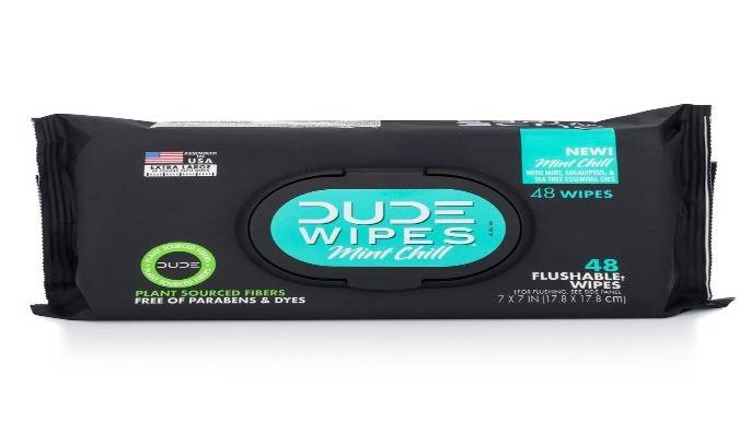 The Return of DUDE Wipes Mint Chill