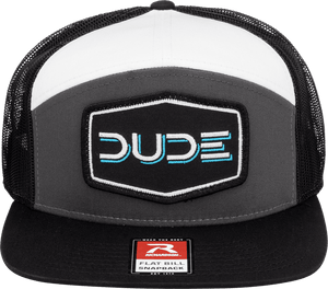 Charcoal, 7 Panel Flat Bill - DudeProducts
