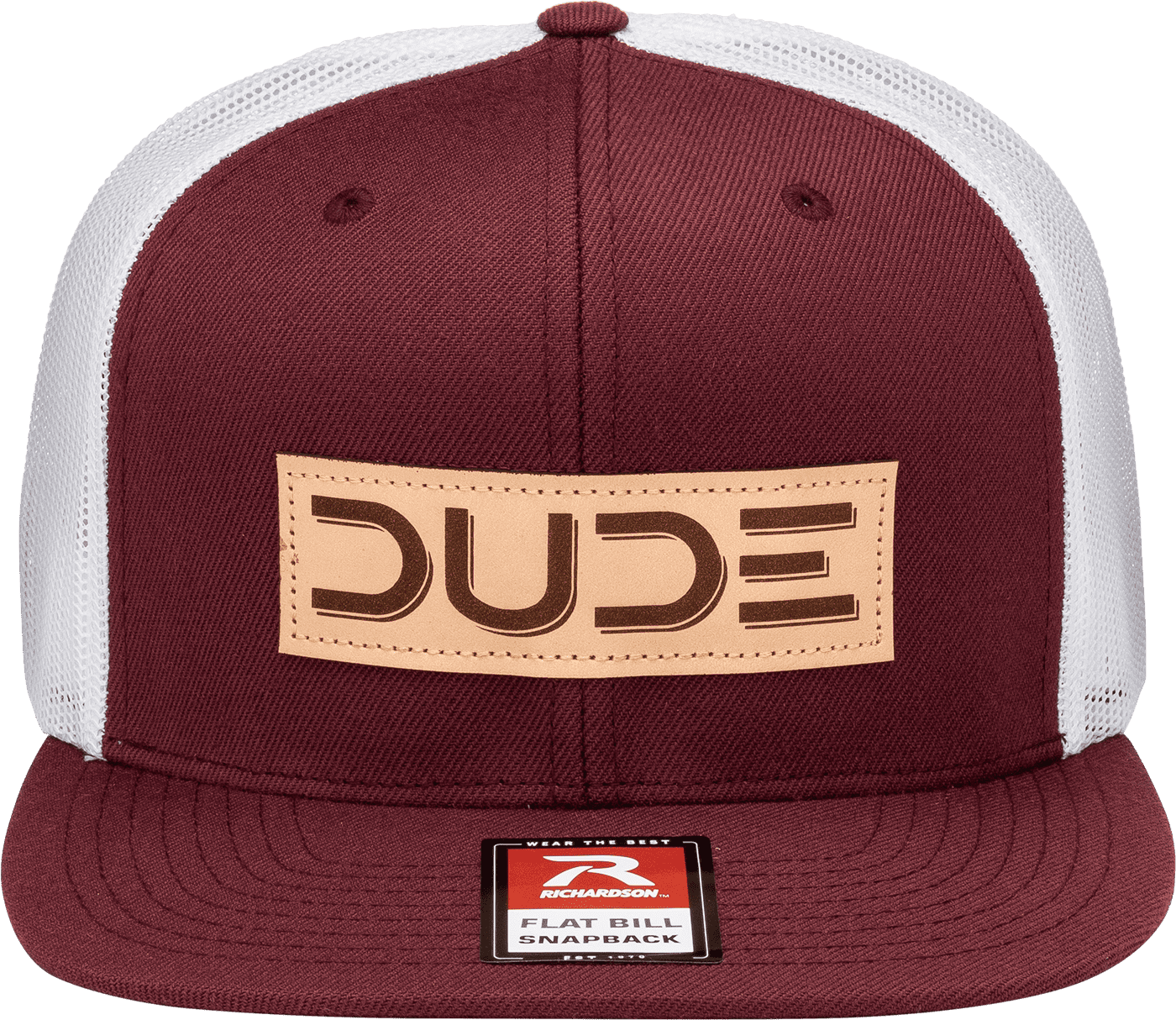 Maroon, Flat Bill - DudeProducts