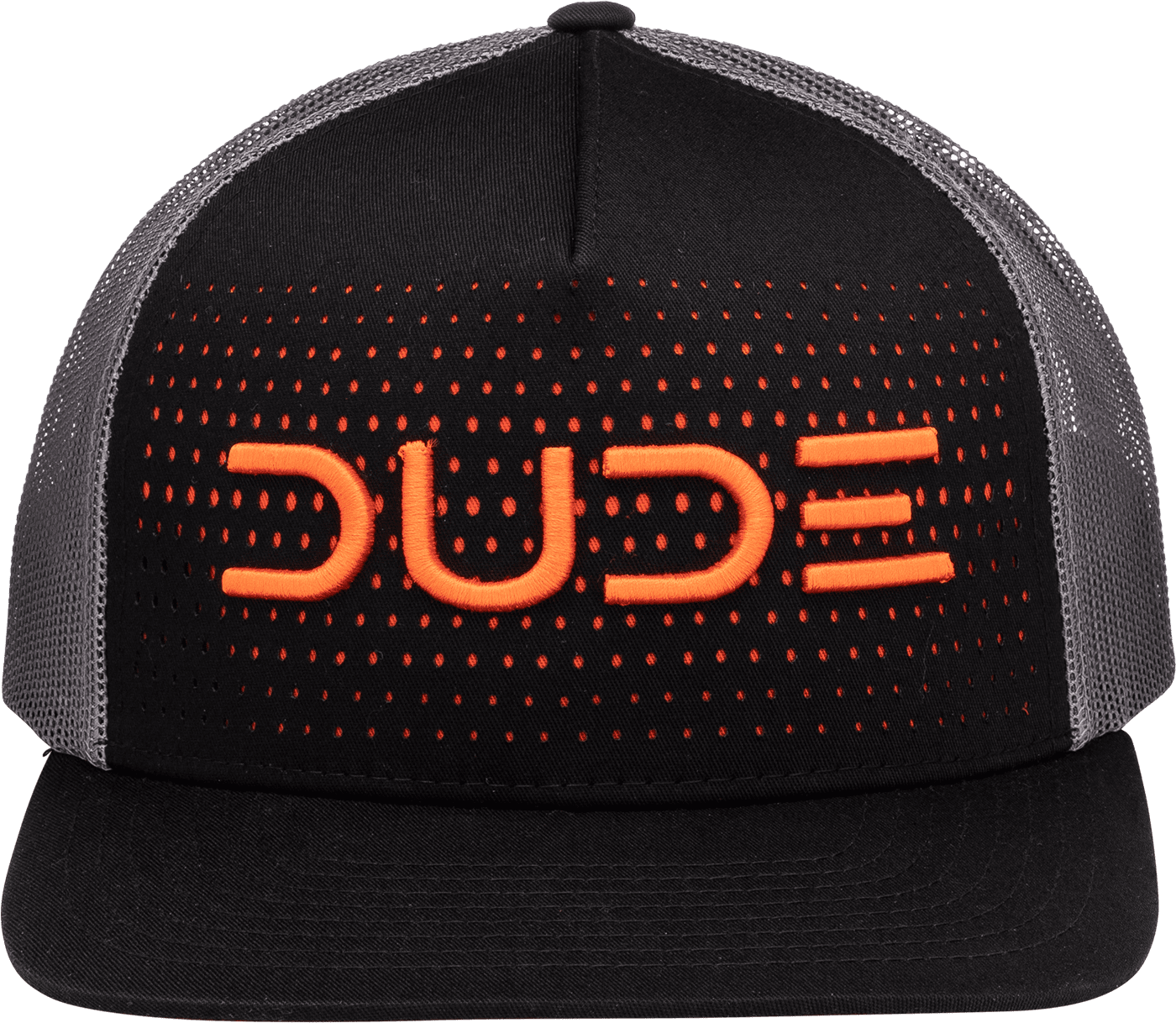 Black & Orange, 5 Panel Trucker - DudeProducts