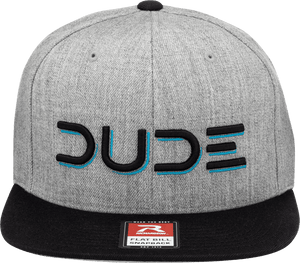 Heather Grey, Flat Bill Snapback - DudeProducts