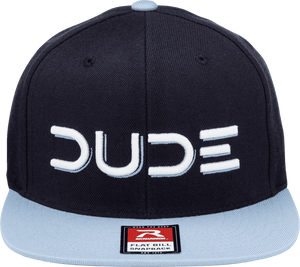 Navy & Blue, Flat Bill Snapback - DudeProducts