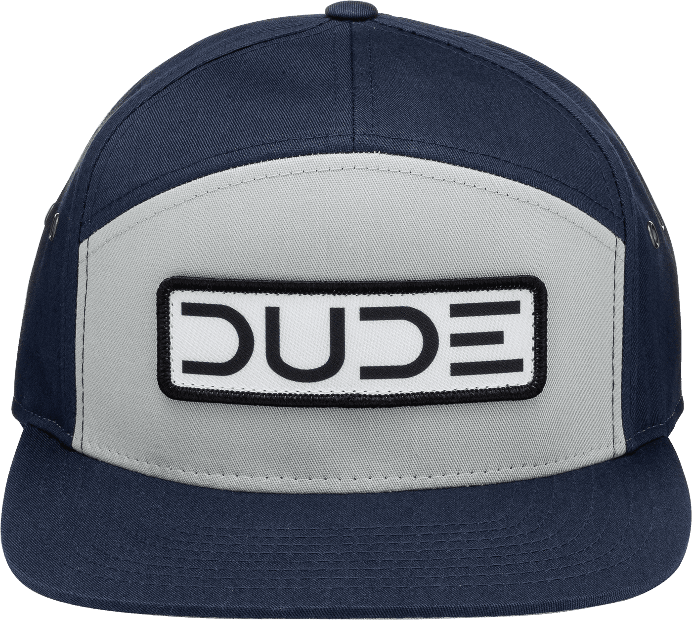 Navy, Flat Bill Strapback - DudeProducts