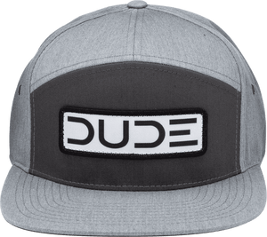Charcoal, Flat Bill Strapback - DudeProducts