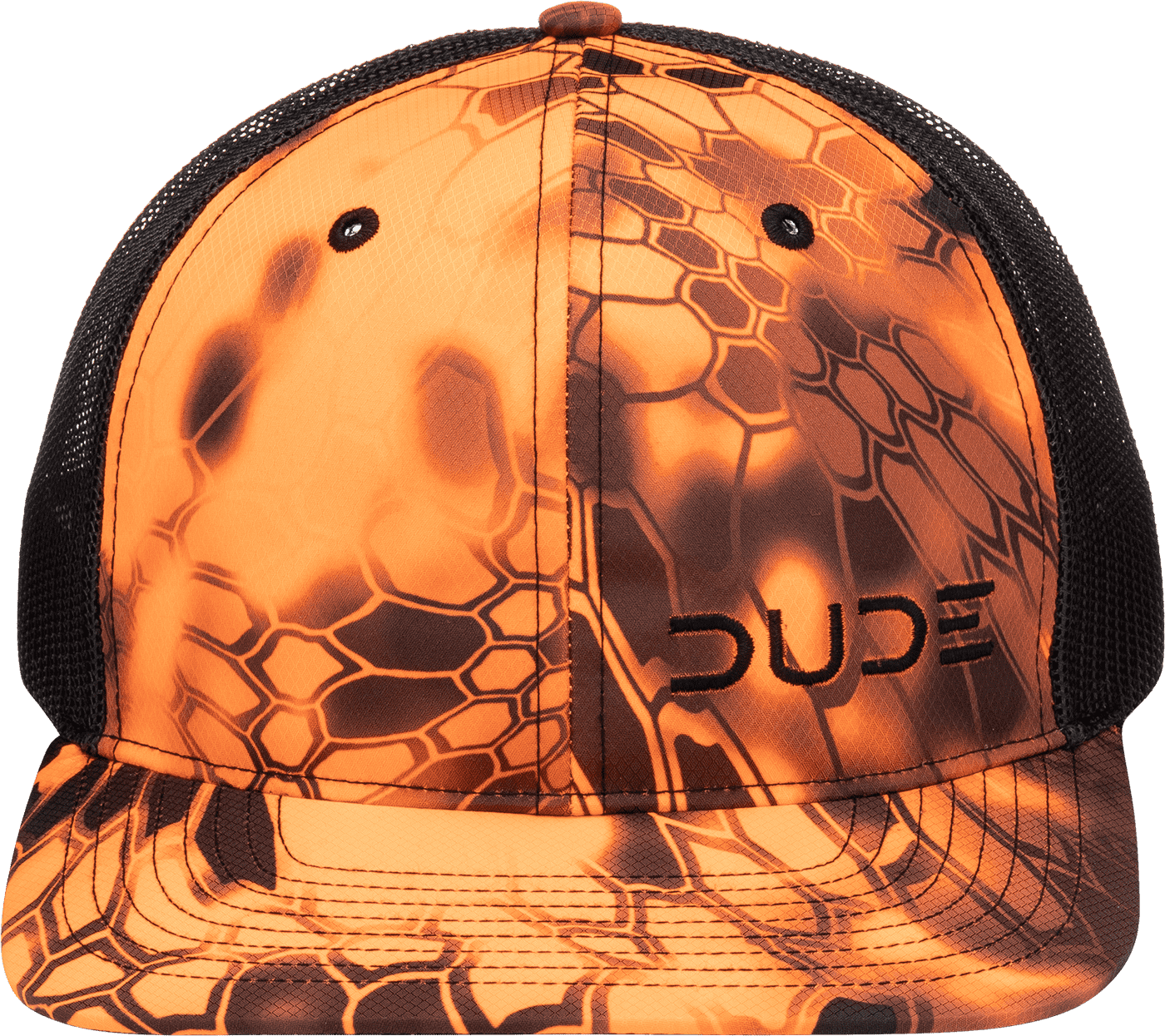 Blaze Camo, 5 Panel Trucker - DudeProducts