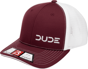 Maroon, Sportsmesh Flex Fit - DudeProducts