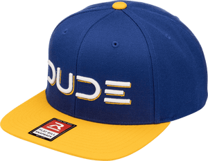 Gold & Blue, Flat Bill Snapback - DudeProducts