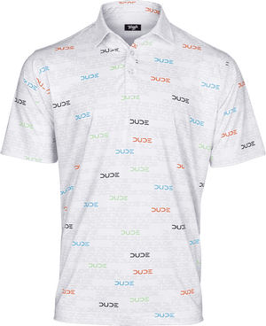 DUDE GOLF POLO, MATRIX DUDE - DudeProducts