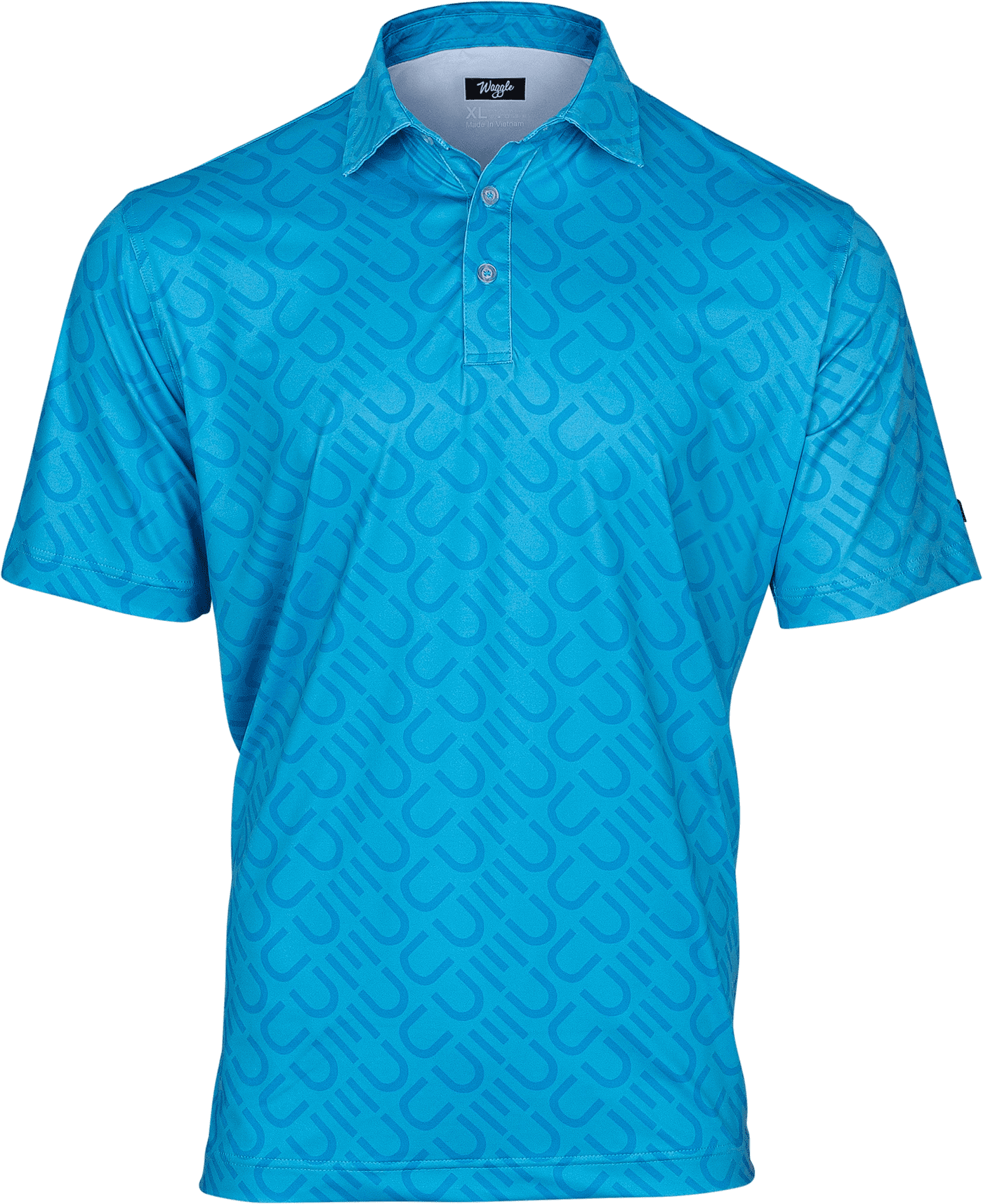 DUDE Golf Polo, Blue Pattern - Dude Products