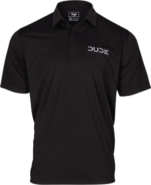 DUDE Golf Polo, Black - Dude Products