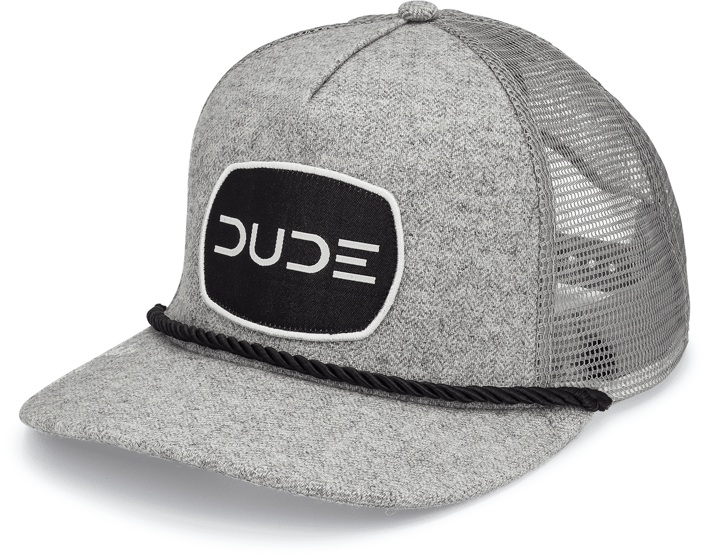 BLACK Trucker Rope Hat - DudeProducts