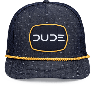 NAVY DENIM & GOLD Trucker Rope Hat - DudeProducts
