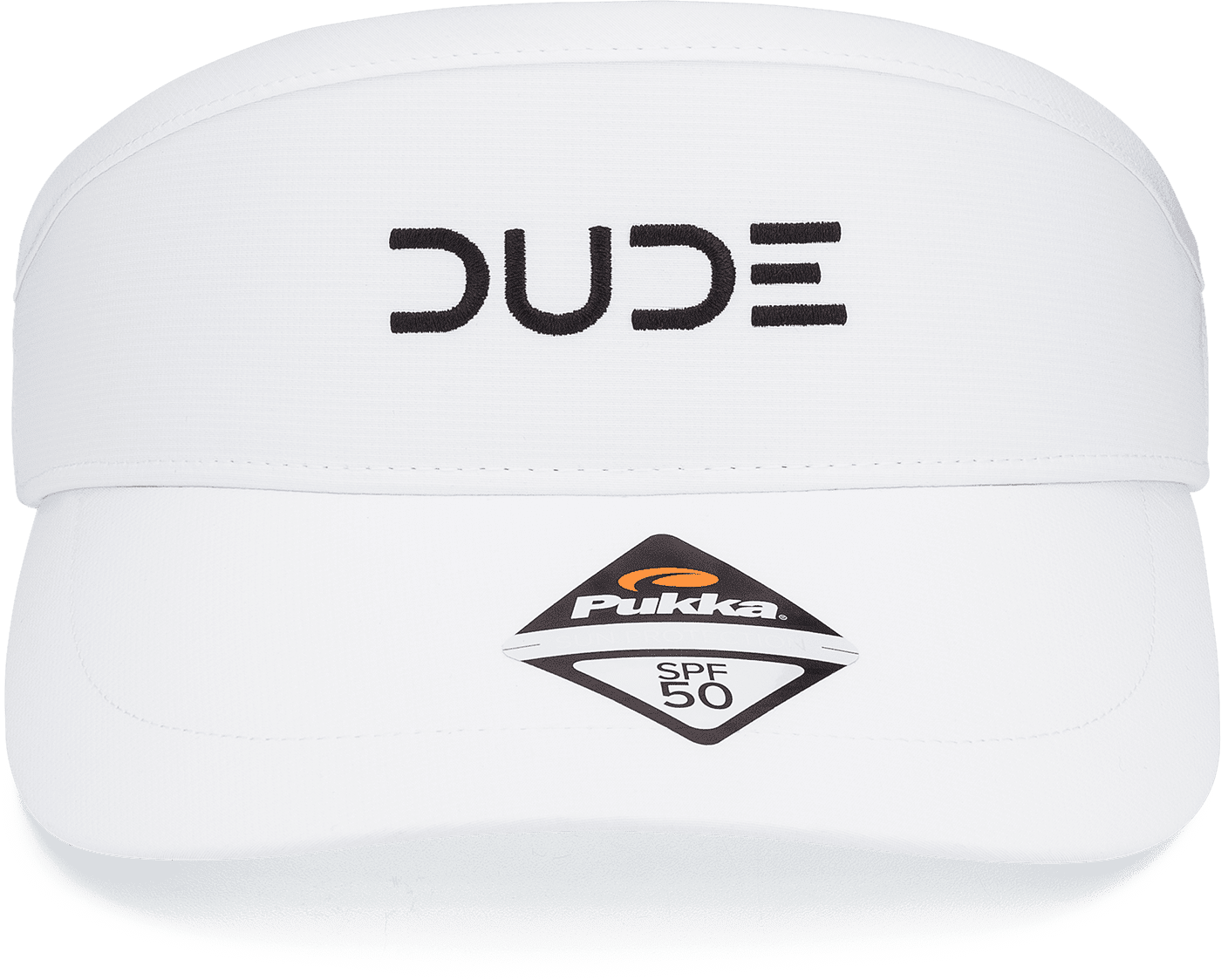DUDE WHITE Tour Visor - DudeProducts