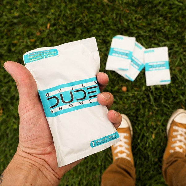 DUDE Shower Body Wipes 1pk Single