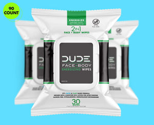 DUDE Face Wipes 30ct - Energize 3pk