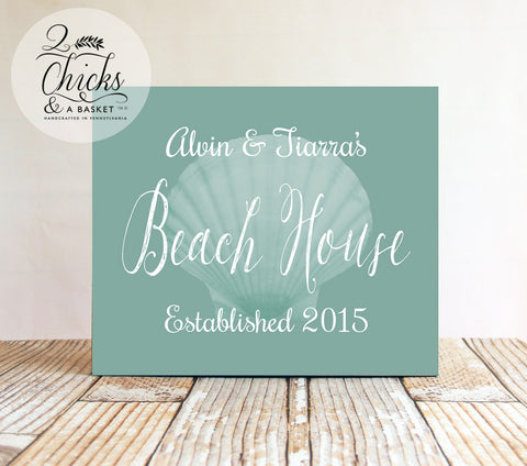 Custom Family Beach House Sign, Personalized Beach House Sign, Custom Beach Decor