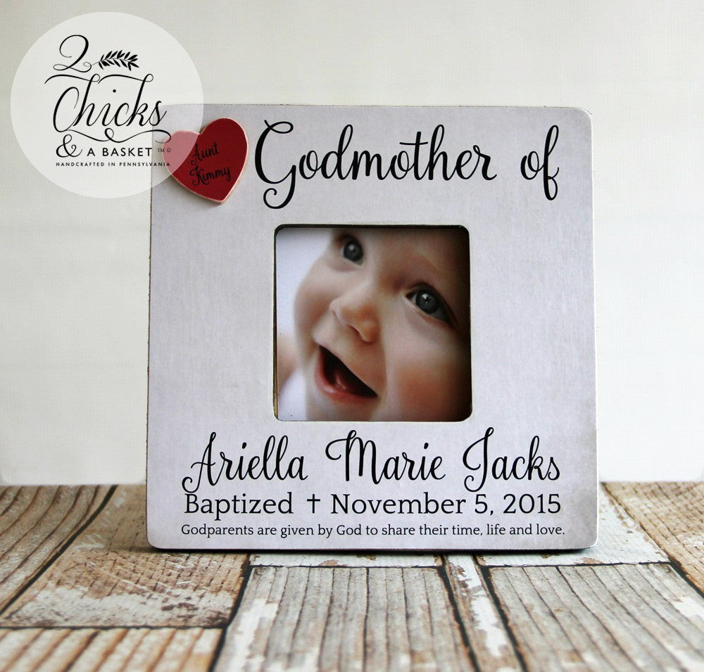Godmother Picture Frame, Baptism Picture Frame, Godmother of Frame ...