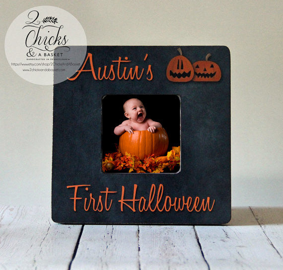 Baby's First Halloween Picture Frame - Pumpkins