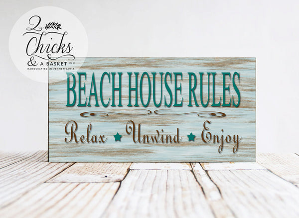 Beach House Rules Sign, Beach Sign, Beach House Decor