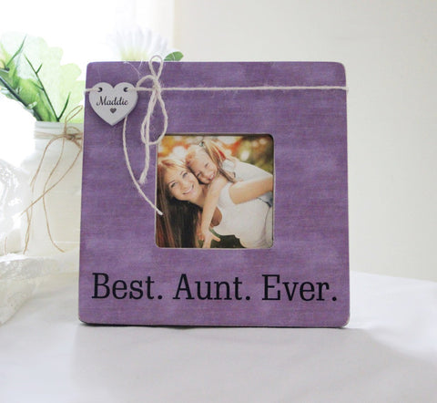 Best Aunt Ever Personalized Picture Frame, New Aunt New Uncle Gift, New Baby Announcement