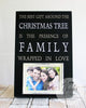The Best Gift Around The Christmas Tree Picture Frame, Family Christmas Picture Frame, Personalized Christmas Frame